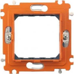 Suport Bticino H4702BG Axolute - Suport 2 module, st german, din plastic, dist interax 70mm, cu gheare