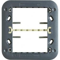 Suport Bticino H4726 Axolute - Suport 3+3 module cu clipsuri, plastic, st italian