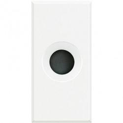 Tasta falsa Bticino HD4953 Axolute - Tasta falsa cu orificiu pentru cablu 9mm, 1 modul, alb