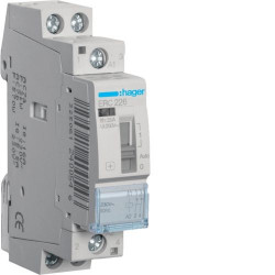 Contactor modular Hager ERL225 - CONTACTOR MANUAL, 25A, 2ND, 8/12V