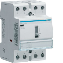Contactor modular Hager ETC363 - CONTACTOR, D/N, 63A, 3ND, 230V