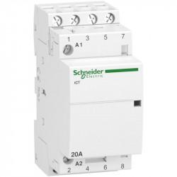 Contactor modular Schneider A9C22824 - iCT 20A 4Nd 220/240V 50H