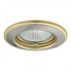 Corp iluminat Kanlux 2820 HORN CTC-3114 - Spot incastrat, Gx5,3, max 50W, 12V, IP20, nichel satinat/auriu