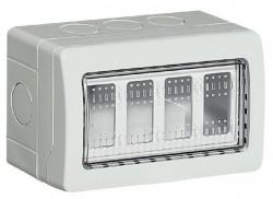 Doza Bticino 25504 Matix - Doza aparenta, IP55, 4 module