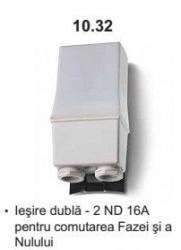 Finder 103281200000 Senzor Crepuscular - RELEU CREPUSCULAR FIXARE PE STALP, 2 CONTACTE ND, 16A, 120V A.C.