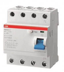 Intrerupator automat ABB 2CSF204401R1400 - F204 A-40/0,03 AP-R, 40A, 0.03A, 4P, A