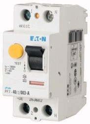 Intrerupator automat Eaton 165814 - PF7-40/2/03-Intr diferential 40A,2P,300mA,10kA