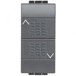 Intrerupator Bticino L4027 Living Light - Intrerupator stroruri cu inversor 1P ND 1-0-2 1M, negru