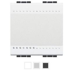 Intrerupator Bticino N4001M2N Living Light - Intrerupator simplu 16A - 250V, 2 module, borne cu surub, alb