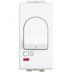Intrerupator Bticino N4301/10 Living Light - Intrerupator cu disjunctor, 1M, 10A, 3kA, 230V, alb