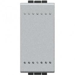 Intrerupator Bticino NT4003N Living Light - Intrerupator cap scara 16A - 250V, 1 modul, borne cu surub, argintiu