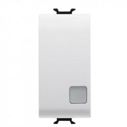 Intrerupator Gewiss GW10003 Chorus - Intrerupator simplu indicator cu led 1M 1P 16AX, alb