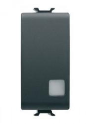Intrerupator Gewiss GW12003 Chorus - Intreupator cu indicator 1M 1P 16AX ILL LOC BLACK