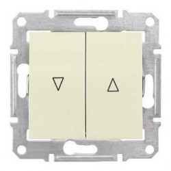 Intrerupator Schnedier SDN1300347 Sedna - Intrerupator pentru jaluzele cu interblocare mecanica, 10 AX - 250 V, bej