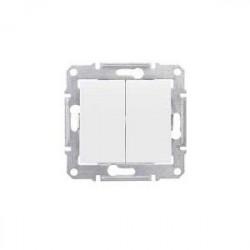 Intrerupator Schneider SDN0600123 Sedna - INTRERUPATOR DUBLU CAP SCARA, 10 AX - 250 V CREM