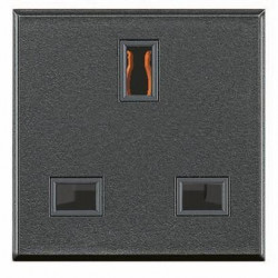 Priza Bticino HS4150 Axolute - Priza standard englezesc, 13A, 250V, 2M, ngeru