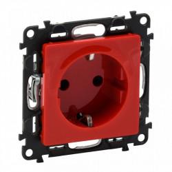 Priza Legrand 753129 Valena Life - Priza standard german,2P+T, protectie copii, borne automate, rosie