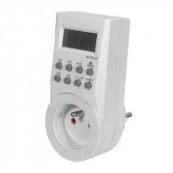 Priza programabila Kanlux 1016 CYBER TM-6 - Priza Cronometru/programator digital, 16A, 3600W, IP20, alb
