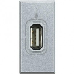 Priza semnal Bticino HC4285 Axolute - Conector USB, 1M, argintiu