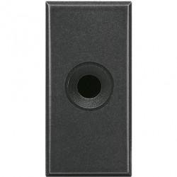 Priza Semnal Bticino HS4391 Living Light - Conector audio jack 3.5, 1M, negru