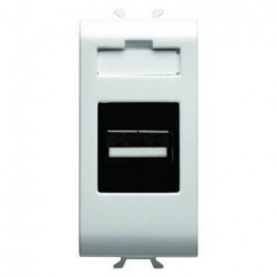 Priza semnal Gewiss GW10459 Chorus - Incarcator USB, 1M, alb