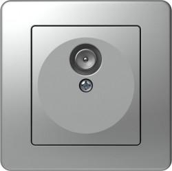 Priza Tem KE10ES-B Ekonomik - Priza simpla TV capat argintiu