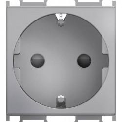 Priza Tem VM10ES-B Modul - Priza simpla CP 2m argintiu