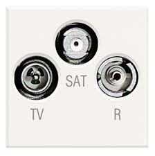 Priza TV/RD/SAT Bticino HD4210D Axolute - Priza TV-RD-SAT , 2M, alb