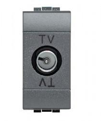 Priza TV/SAT Bticino L4202DC Living Light - Priza TV de capat, 1M, negru