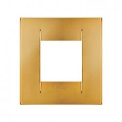 Rama Gewiss GW16422MO Chorus - Rama Geo International, 1P, 2M, oriz, termopolimer metalizat, auriu