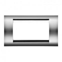 Rama Gewiss GW32074 Playbus - Rama Playbus 4M, oriz, tehnopolimer metalizat, soft crome