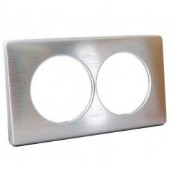 Rama Legrand 68928 Celiane - Rama metalica, 2 posturi, interax 57mm, aluminiu