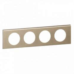 Rama Legrand 69114 Celiane - Rama metalica, 4 posturi, interax 71mm, nichel