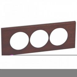 Rama Legrand 69229 Celiane - Rama din lemn, 3 posturi, interax 57mm, acaju