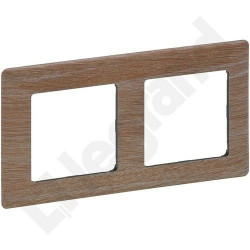 Rama Legrand 754182 Valena Life - Rama 2 posturi, lemn deschis