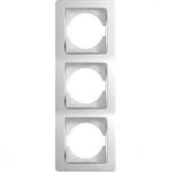 Rama Tem OE31CO-U Ekonomik - Rama tripla verticala alb cu inel argintiu