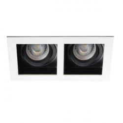 Spot Kanlux 26723 ARET - Spot dublu incastrat, directional GU10, 2x35W, alb/negru