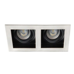 Spot Kanlux 26725 ARET - Spot dublu incastrat, directional GU10, 2x35W, inox periat/negru