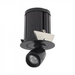 Spot LED Arelux XMicro Recessed MC02NW BK - Corp iluminat cu LED 3W 700mA 4000K 36grd. BK (5f), negru