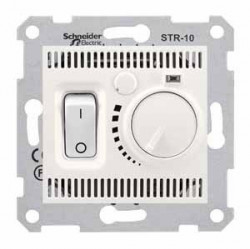 Termostat Schnedier SDN6000123 Sedna - Termostat de camera 10 A - 230 V, crem