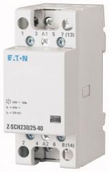 Contactor modular Eaton 248848 - Z-SCH230/25-04-Contactor modular 25A, 4NI, cda 230V