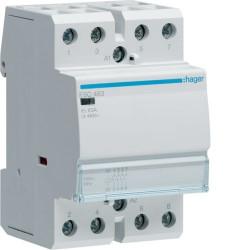 Contactor modular Hager ESC463 - CONTACTOR, 63A, 4ND, 230V