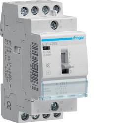 Contactor modular Hager ETC425 - CONTACTOR, D/N, 25A, 4ND, 230V