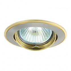 Corp iluminat Kanlux 2803 BASK CTC-5515 - Spot incastrat directional, Gx5,3, max 50W, 12V, IP20, nichel/auriu