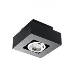 Corp iluminat Kanlux STOBI 26830 - Plafoniera led 1x25W, Gu10, IP20, negru/inox