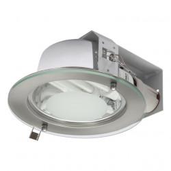 Corp iluminat Knalux 18290 SHIRO DLO - Corp iluminat incastrat, E27, 2xmax 20W, IP20, argintiu