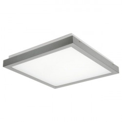 Corp iluminat LED Kanlux 24641 TYBIA - Plafoniera led cu senzor, , 38W, 4000k, 3500lm, IP20, 41cmx41cm, argintiu