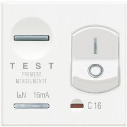 Disjunctor Bticino HD4305A16 Axolute - Disjuntor magneto-termic, 1P+N, 16A, 3KA, alb