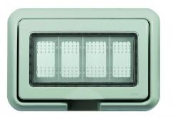 Doza aparenta Bticino 25604B Matix - Doza aparenta 4 module Matix, IP55