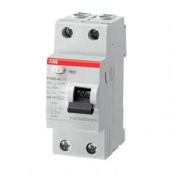 Intrerupator automat ABB 2CSF202002R1630 - FH202 AC-63/0,03, 63A, 0.03A, 2P, AC